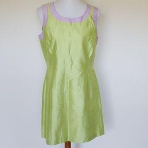asap Saks Fifth Avenue lime green dress size 12